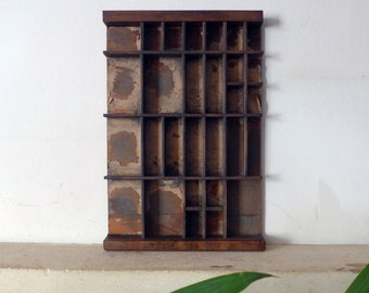 Part Letterpress Type Font Tray, Cut Down from Full Size Drawer, 250mm x 370mm, Shadowbox
