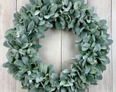 Lamb s ear wreath, year round wreath, front door wreath, fall wreath, wreath for front door, all year wreath, farmhouse rustic
