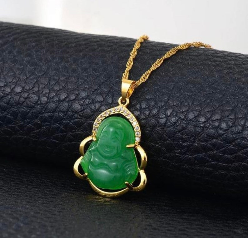 buhddah necklace,women buddha necklace buddah necklace small Jade Buddha necklace 18k gold plated buddha necklace