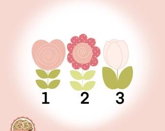 Flowers - Mothersday - Cookie Cutter  - Fondant Cutter - Clay Cutter - Dough Cutter