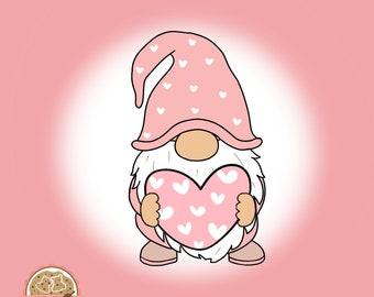 Gnome - Valentin's Day Cookie Cutter  - Fondant Cutter - Clay Cutter - Dough Cutter