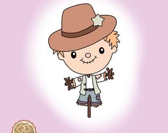 Scarecrow - Cookie Cutter - Fondant Cutter - Clay Cutter - Dough Cutter - Fall - Autum - Thanksgiving