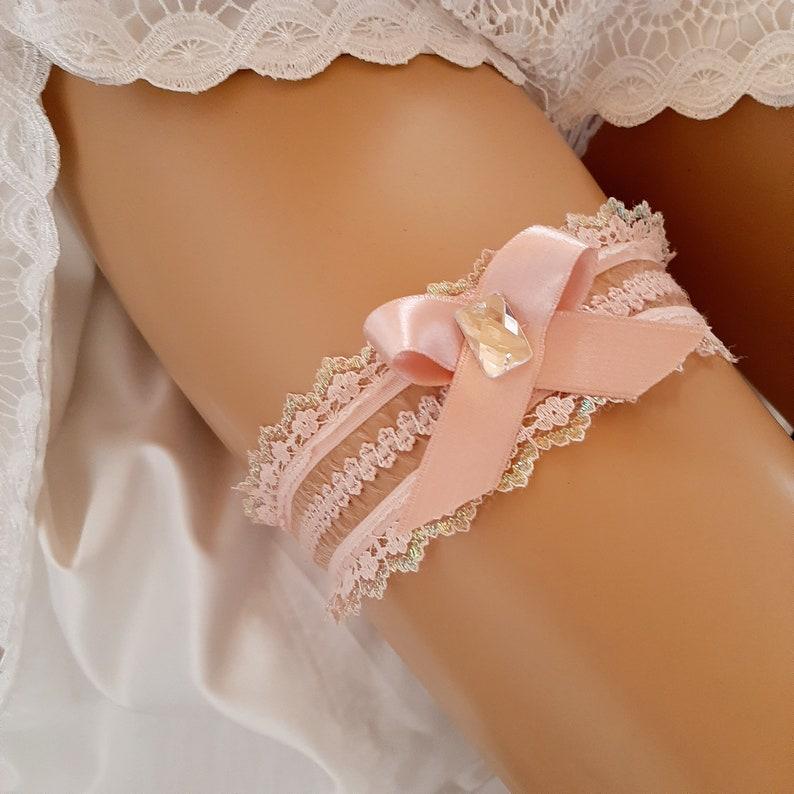 Soft Pink Garters For Wedding  Lace Garter  Bridal Garter  Wedding Garter  Garter Belt  Prom Garter  Single Garter Pink Lace Garter Weddings