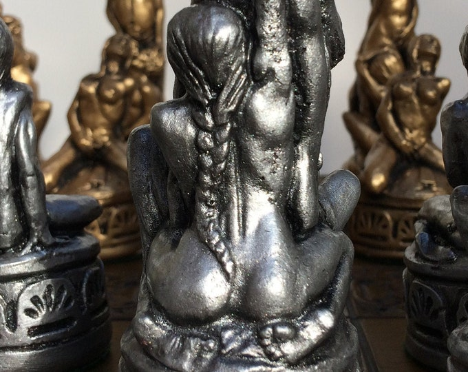 Erotic Chess Set - Handmade Themed Chess Set - Fantasy Board Game Pieces in Antique aged effect based on a 1920's Design (Chess Pieces Only)
