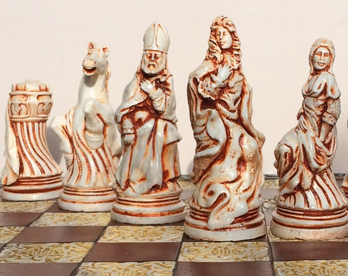 Louis XIV Chess Set - French Chess Theme - Gardens of Versailles (Chess pieces only)