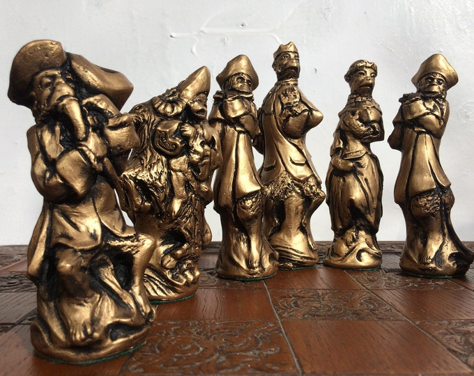 Monkey Band Themed Chess Set - Large Ornamental Chess set - Rare and hard to Find Chess Set. (Chess Pieces Only)