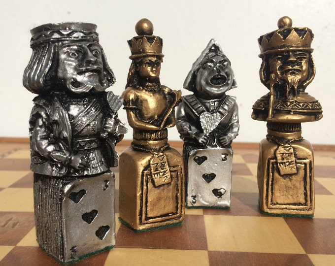 Alice in Wonderland Chess Set - Mad Hatter, Lewis Carroll themed Chess Set - Rare Chess Set Design (Chess Pieces Only)