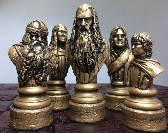 Lord of the Rings chess set - LOTR Chess Set Handmade (Chess pieces only)