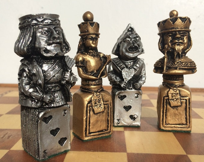 Alice in Wonderland Chess Set - Mad Hatter, Lewis Carroll Themed Board Game Pieces - Rare Design (Chess Pieces Only)