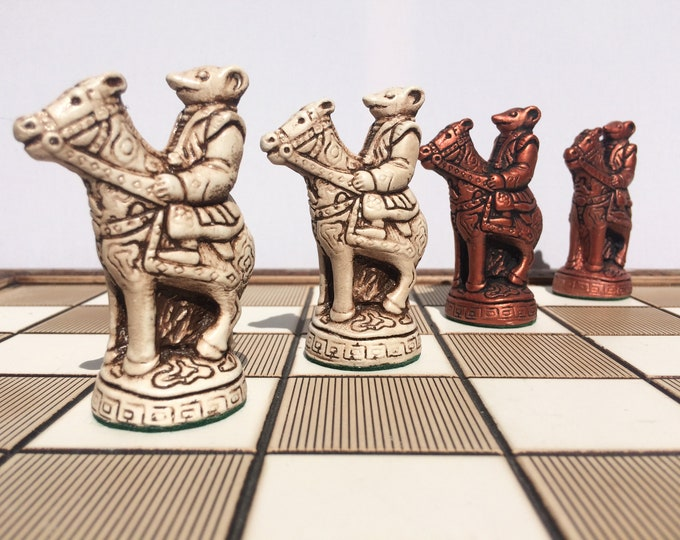 Oriental Chess Set - Chinese Mice themed Chess Set - Chess pieces only