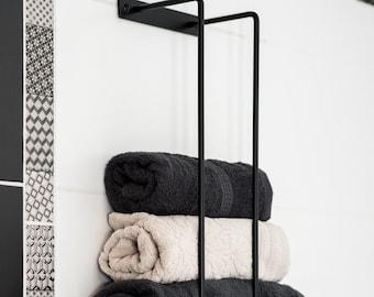 Towel Rack Bathroom Towels Holder Wall Mount Solid Metal Hand Towels Organizer