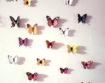 84/76 pcs (4sets) natural 3d butterflies walll decoration Wall Sticker Beautiful Butterfly for Kids Room Wall Decals Home Decoration