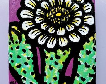 Desert Blooms Series: Saguaro with White Flower