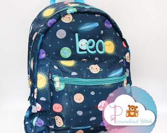 Gym Backpack Solar System Illustration Outer Space Science Tools Backpack Girls Backpacks Lightweight With Zipper Pocket Sports Athletic School Travel Gym Cinch Sack