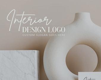 Interior Design Premade Logo | Modern Text Logo | Simple, Minimal Business Logo | Home Decor Logo | Custom Brand Watermark | Trendy Logo