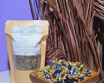 Butterfly Pea, Lavender, & Chamomile  Calming Nootropic Tea Blend | Anxiety | Relaxation | Smart Plant Infusion