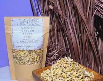 Oregon Grape Root, Premium Organic Cut and Sifted Dried Herb | GERD TEA | Ulcer Tea | Urinary Tract Infection Tea | psoriasis Tea | DIY