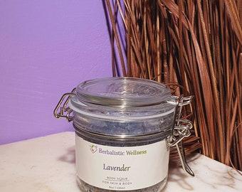 Lavender Body Scrub, Calming Bath Scrub, Anxiety Calming Bath Scrub, Herbal Infused Ezcema Bath Scrub