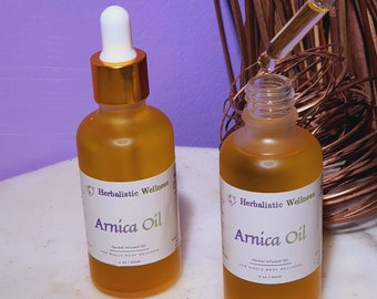Arnica Oil~ Muscle  Inflammation Pain, Carpal Tunnel Oil, Skin & Hair Oil,  Handcrafted, 100% All Natural, Herbal Infused Oil