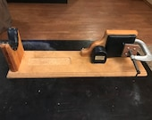 Rare Vintage Decker Shooting Products Wood Leather Rifle Rest Vice 30 quot