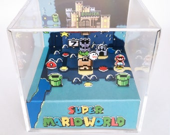 Super Mario World 3D Diorama Cube - World 7