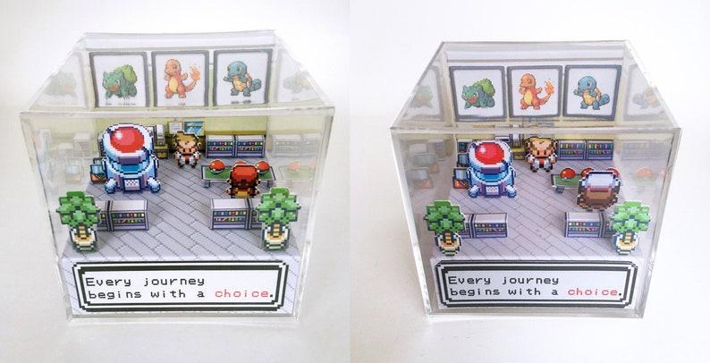 Pokemon 3D Diorama Cube  Choose your starter Pokemon  image 0