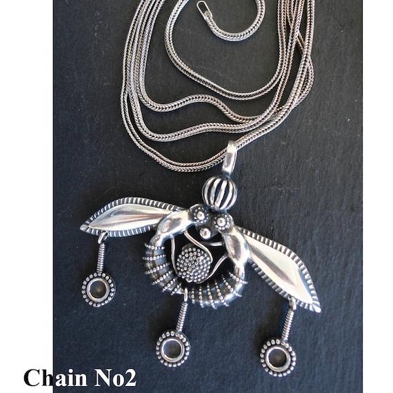 Minoan Bees Pendant 925 Silver 3.5 cm
