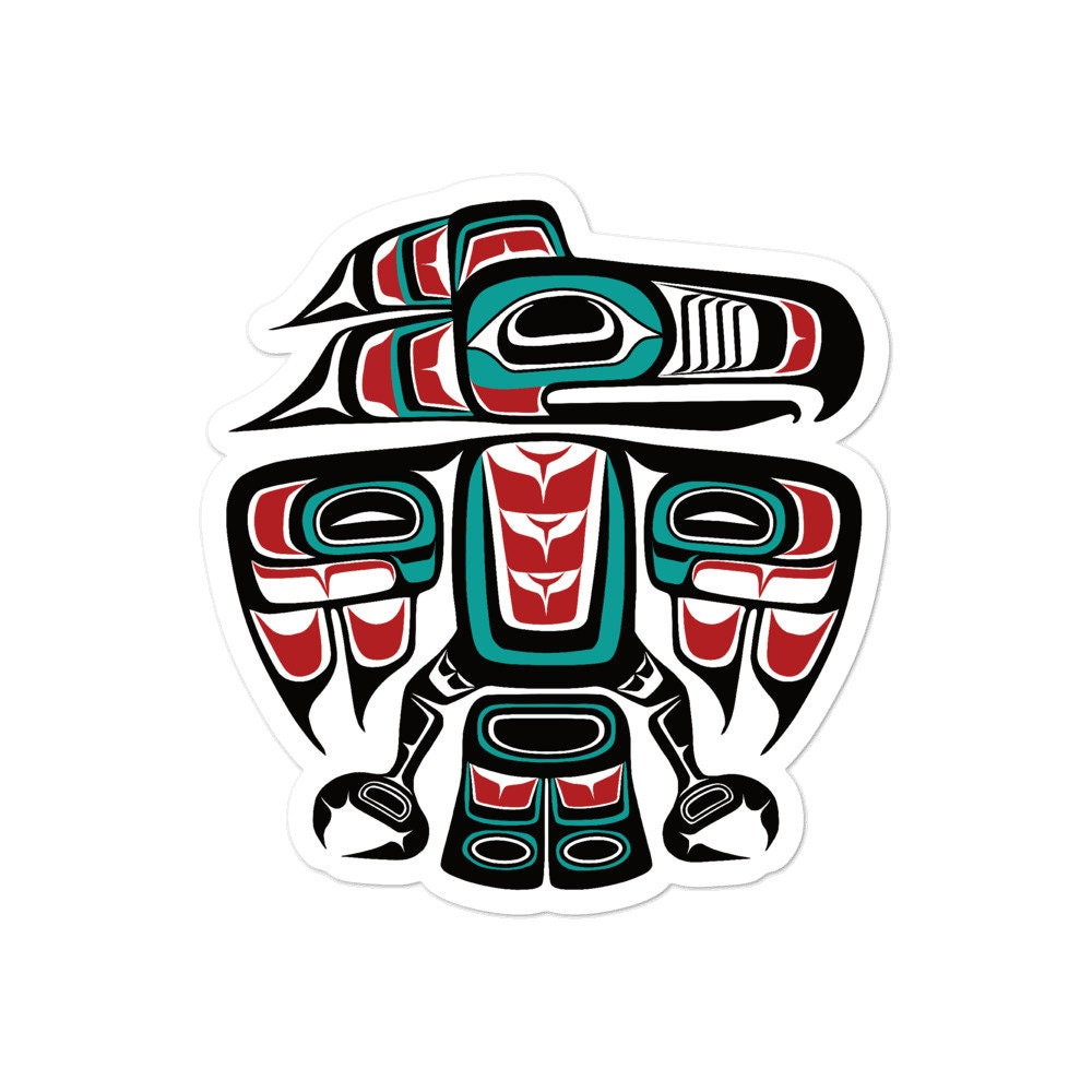 Pacific North West First Nations /'/'Honor In Ceremony/'/' Sticker Decal Native Indigenous Art