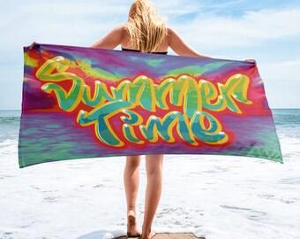 Summer Time Beach Towel