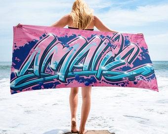 Amalie Personalised Name Towel Limited Edition