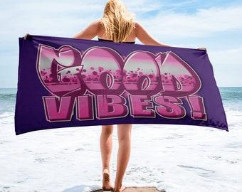 Good Vibes Beach Towel