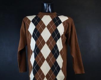 New Men/'s Oscar De La Renta Cable Knit Tank Top Vest Large Xlarge £42