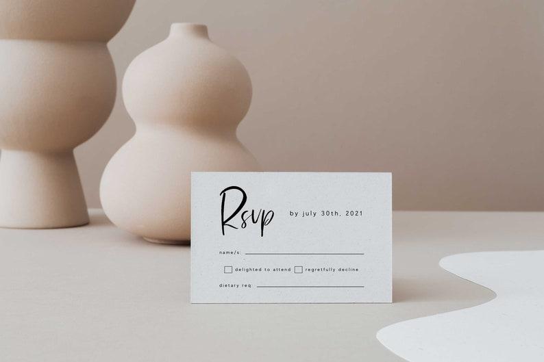 Invite Printable Editable Instant Download Invitation Set Details Info Card WED50 Wedding Invitation Suite Bundle Modern Minimalist RSVP