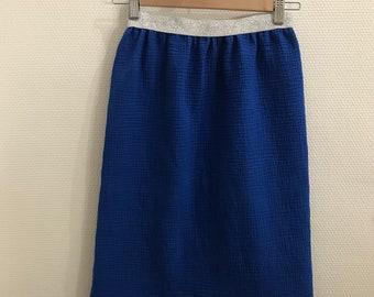 Elastic skirt child midi double gauze