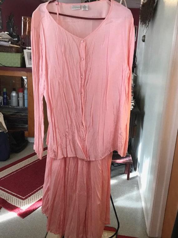maxi skirt and top/ pink maxi skirt with top / Cri