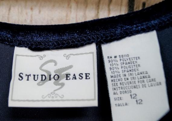 Vintage, 1990's, Studio Ease, Velvet, Navy, Maxi,… - image 6