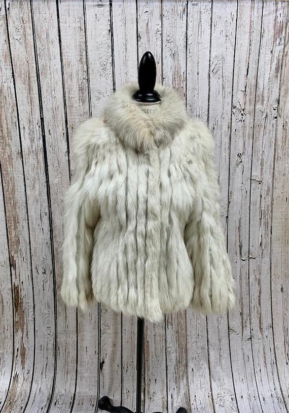 Vintage, 1970's, Saga Fox, White fox, Fur Coat, Wi