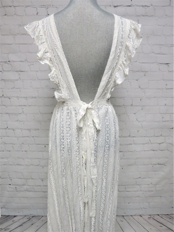 Vintage, 1970's, All Lace Pinafore, Apron Dress, … - image 7