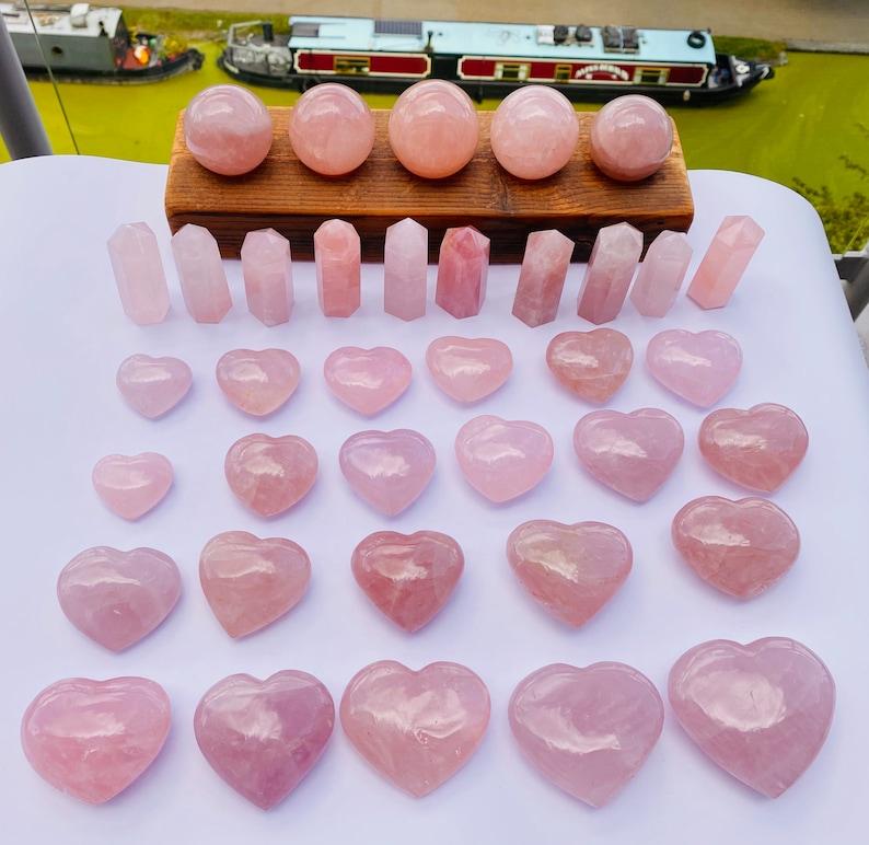Pink Crystal Balls 50-60mm Rose Quartz Balls Healing Crystals Rose Quartz Crystal Rose Quartz Spheres
