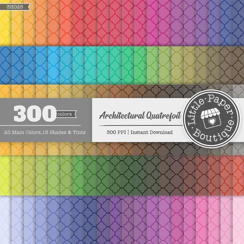 300 Quatrefoil Digital Paper Pack Bundle Set of Digital Scrapbook Papers Digital Graphic,Quatrefoil Paper,Quatrefoil Pattern Scrapbook Paper