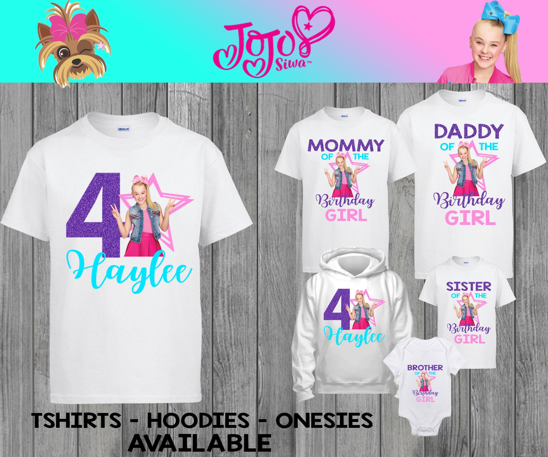 NEW Custom Personalized JoJo Siwa t shirt Birthday party Add Name Age JoJo Bows