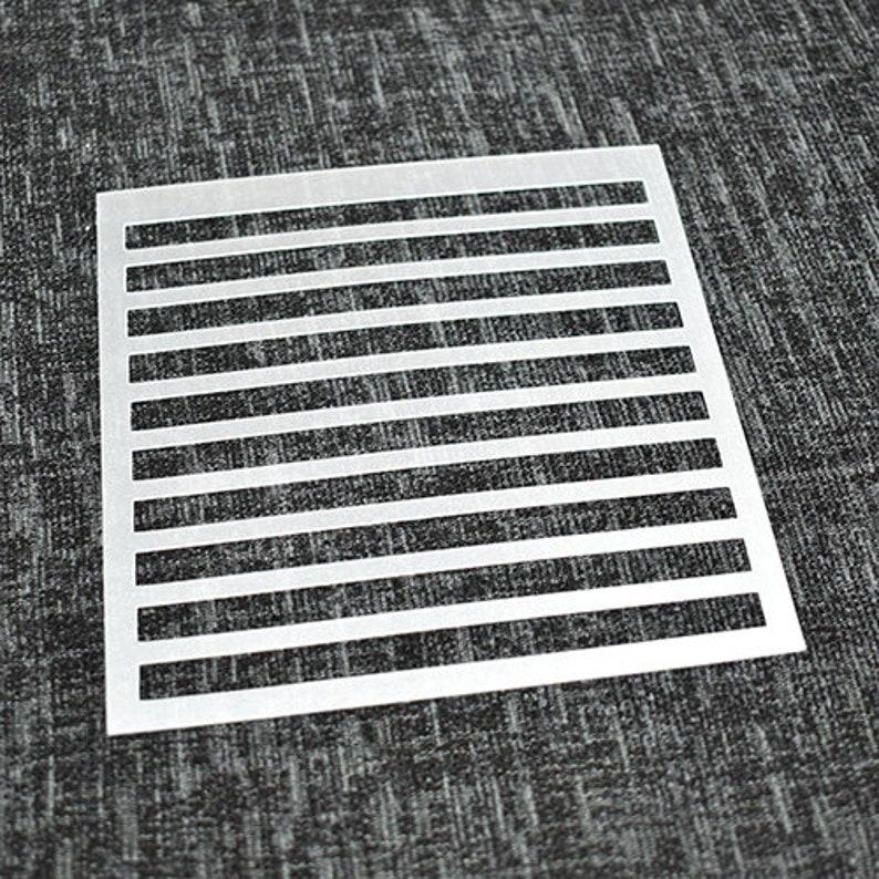 Cookie Stencil Art Stencil StripeLine Pattern