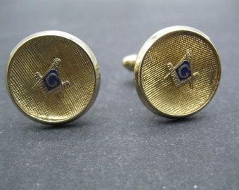 Vintage Mason Mother of Pearl Cufflinks Vintage Speidel MOP Masonic Cufflinks Free Shipping B34
