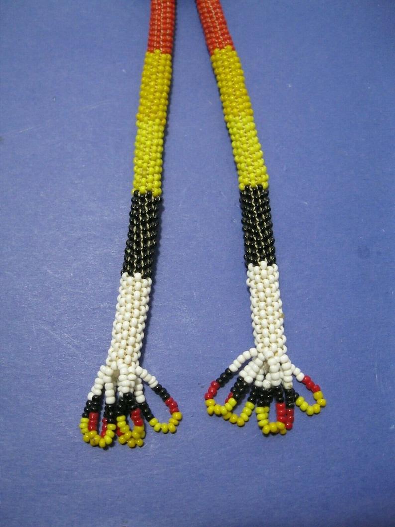Native American Handmade Beaded Slide Bolo Tie Beautiful