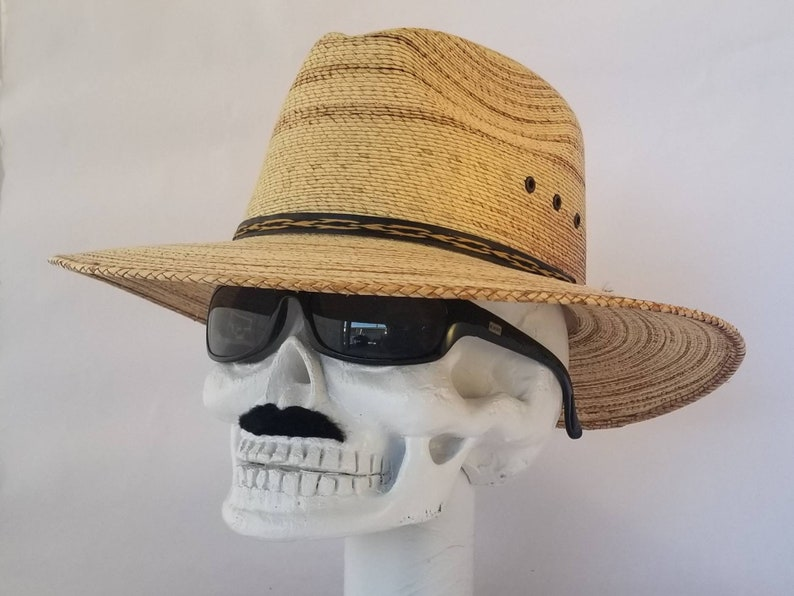 aprox classy style with a classy look Lowrider 14.5 x 13.25 100/% handmade proudly in Mexico Classic Male Fedora Straw Hat