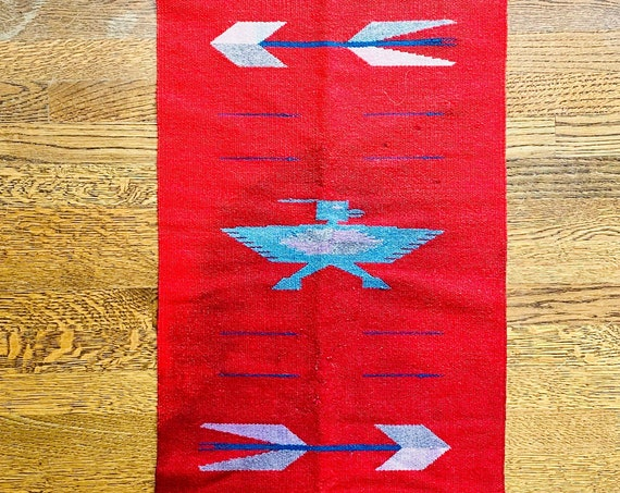 Vintage Southwestern Style Table Runner or Textile Art