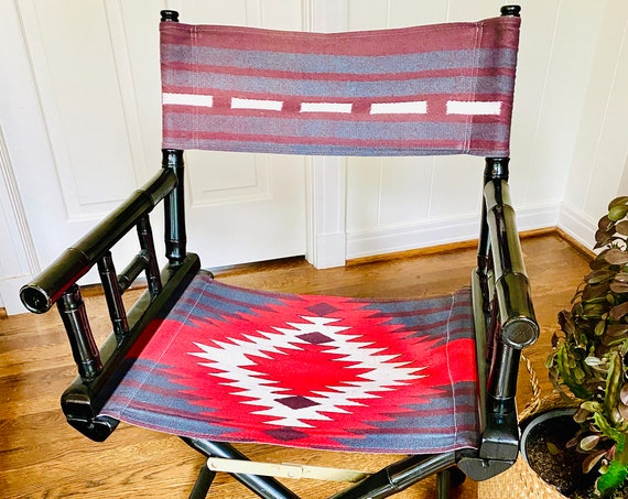 Vintage Southwestern Style and Faux Bamboo Director Chair
