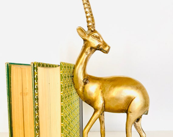 Vintage Mid-Century Brass Gazelle/Antelope