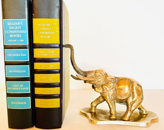 Vintage Mid-Century Brass Elephant