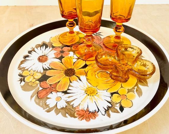 "Vintage Mikasa Studio Kraft Fayette 7909 Retro Floral 12 1/4"" Serving Platter"
